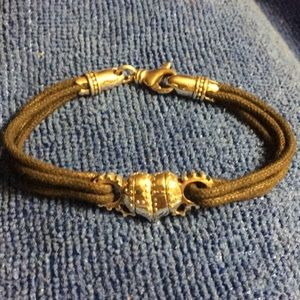 King Baby Sterling Silver Gear Heart Bracelet